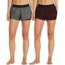 Icyzone Functional Sports Women's Sports Shorts Hot Pants Fitness Yoga Pants Sports Trousers Tracksuit bottoms Joggin Shorts 2 in 1