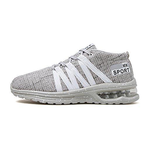 Torisky Hommes Chaussures De Course Baskets Running Fitness Sneakers Plat Décontracté Intérieur Extérieur Gris