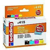 edding 18-415 Druckerpatrone EDD-415, CMYK, Ersetzt: Epson T1291/T1292/T1293/T1294