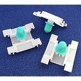 10x Remaches Plásticos - Clip Sujección Topes Puerta VW Volkswagen Golf Mk3 (1H0853585) - Coche Grapas - Franqueo libre!