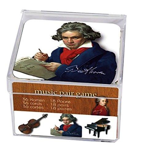 Plastique 36 (Fridolin–11836–-Spiele Memoboard–Musik und Klassischen mit 36Karten in der Box aus Kunststoff)