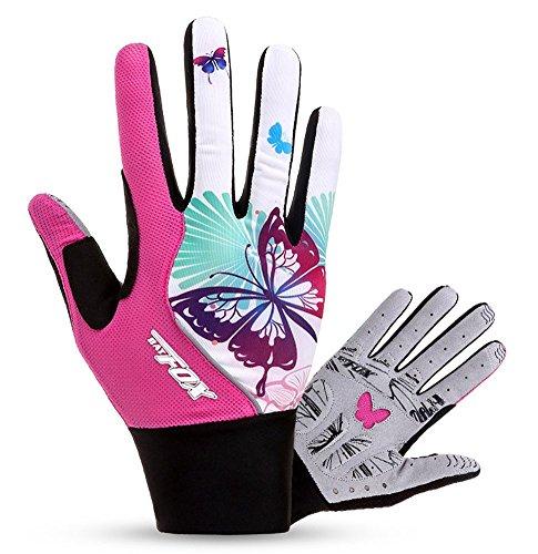 FREEMASTER Radfahren Handschuhe Damen Touch Screen Sport Mountain Road Bike Fahrrad Handschuhe Pink Full Finge