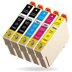 Azprint 5er Set Kompatibel Druckerpatronen Epson 29XL 29 für Epson XP-342, XP-332, XP-432, XP-245, XP-335, XP-235, XP-435, XP-442, XP-445, XP-447, XP-247, XP-345 Drucker   Hohe Kapazität mit Chip, 2 Schwarz, 1 Blau, 1 Rot,1 Gelb