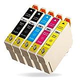 Azprint 5er Set Kompatibel Druckerpatronen Epson 29XL 29 für Epson XP-342, XP-332, XP-432, XP-245, XP-335, XP-235, XP-435, XP-442, XP-445, XP-447, XP-247, XP-345 Drucker | Hohe Kapazität mit Chip, 2 Schwarz, 1 Blau, 1 Rot,1 Gelb