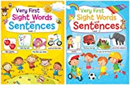Very First Sight Words Sentences Level - 1 + Very First Sight Words Sentences Level - 2 (Set of 2 books)