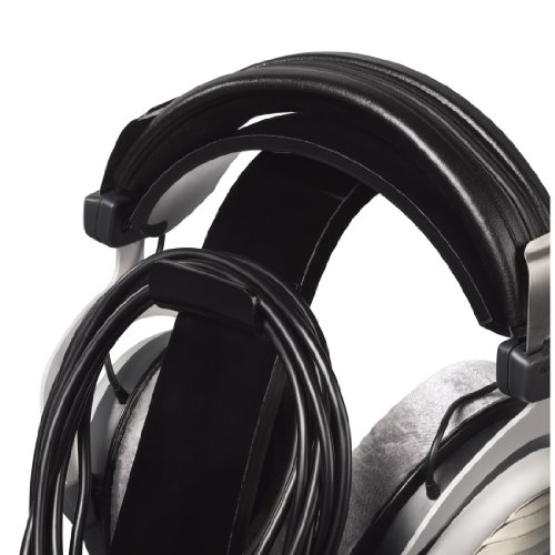 Hama Kopfhörer-Ständer (Kopfhörer-Halter mit Kabelhalterung, Höhe 23cm, Acryl) schwarz - 6