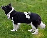 Buttoned Adidog Kapuzenpullover für Hunde, Größen 5XL-8XL erhältlich, in Schwarz oder Rot