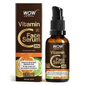 WOW Skin Science Vitamin C Serum - Skin Clearing Serum - Brightening, Anti-Aging Skin Repair, Supercharged Face Serum, Dark Circle, Fine Line & Sun Damage Corrector, Genuine 20% - 30ml