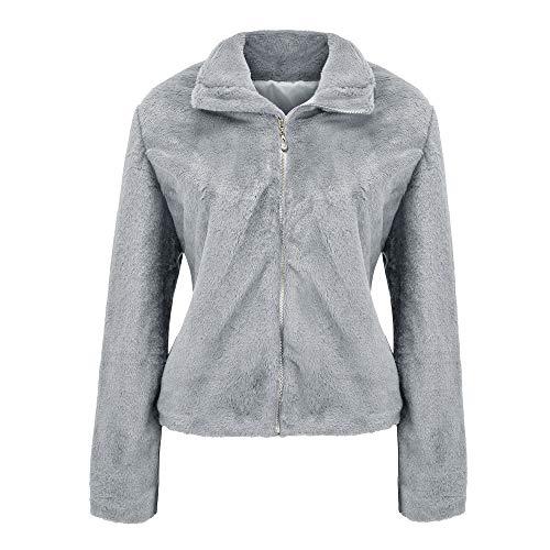 MIRRAY Damen Mantel Jacke Solid Winter Zipper Gradient Parka Oberbekleidung Grau Lila Khaki