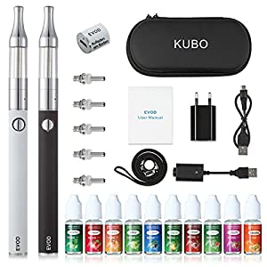 E Zigarette Starterset/E Shisha 10 x 10ml liquid Doppelset ohne Nikotin KUBO