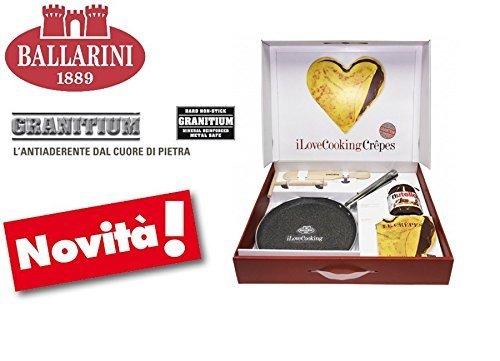 Ballarini I Love Cooking Granito Padella, Alluminio, Grigio, 40x30x15.0 cm