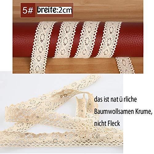 Vintage Spitzenbänder | beige, 5 Stück - 4
