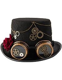 dream cosplay Gótico Steampunk Sombreros de Copa con Pluma SxPr0TPn