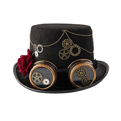 dream cosplay Sombrero de Copa Steampunk gótico Victoriano(Mujeres)