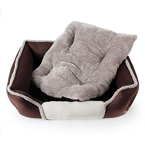 Daeou hundematten Tuch + Arctic Velvet + PP Baumwolle Tasche Vier Seitenteile der Zwinger Hund Katze Matte Bett zu Ziehen. (Luxuriöse Bett-tasche)