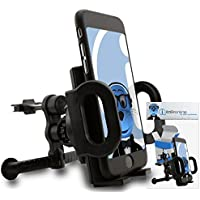 iTALKonline Apple iPod Touch 5th Generation (5G) Black Custom Dedicated In Car Spring Mount Clip Air Vent Holder (Case Compatible) Cradle