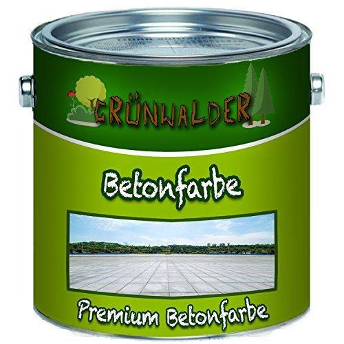 Grünwalder Betonfarbe Bodenfarbe premium Fassadenfarbehoch-elastische und hochlichtecht für den Innen- und Außenbereich (1 L, Lichtblau (RAL 5012))