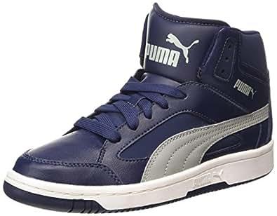 Puma Unisex PUMA Rebound v.2 Hi Peacoat and Limestone Grey Sneakers - 10 UK