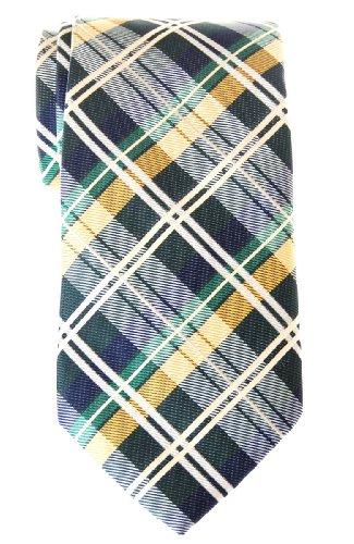 Retreez Herren Gewebte Krawatte Elegante Tartan Plaid Karo 8 cm - dunkelgrün und gelb und...