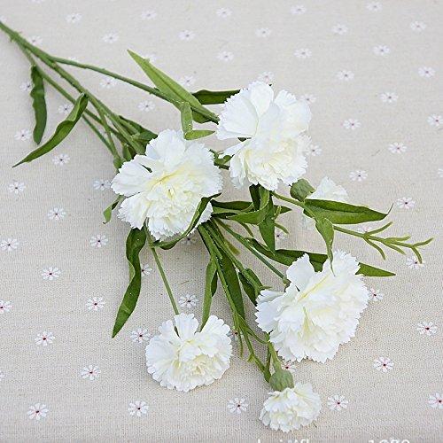 Oyfel fiori artificiali garofano fiore artificiale per vaso fiori finti per balcone festa della mamma regalo casa decorazioni 1pezzi