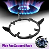 Wok Support Stand for Gas Hobs, Cast Iron Pan Holder Stove Trivets for Milk Pot Cooktop Range Pan Gas Burner Support Ring, Universal