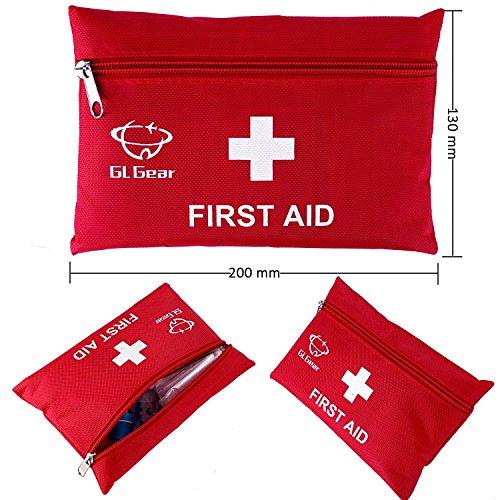 51kgcnbd6gL - GL Gear Portable Kit de Primeros Auxilios Medical Survival Bag, Mini Emergency Bag para Coche, hogar, Picnic, Camping, Viaje y Otras Actividades al Aire Libre (41 Piezas/Juego)