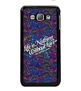 PrintVisa Designer Back Case Cover for Samsung Galaxy J1 (6) 2016 :: Samsung Galaxy J1 2016 Duos :: Samsung Galaxy J1 2016 J120F :: Samsung Galaxy Express 3 J120A :: Samsung Galaxy J1 2016 J120H J120M J120M J120T (heart love flowers I love you love couple)