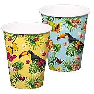 8 Vasos de Fiesta * Tucan * para Fiesta temática o cumpleaños Infantil // Fiesta