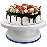 Vishal Smart MallPlastic Cake Stand Revolving Decorating Turntable_White