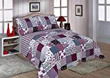 Restmor Trapuntino Patchwork Double Face disponibile in 3 misure con federe in coordinato Freya (King Size con 2 federe)