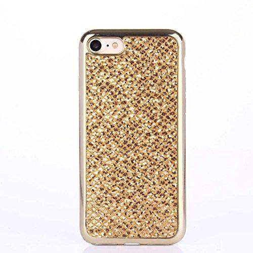 Cover per iPhone 7, Tpulling Custodia per iPhone 7 Case Cover Custodia in silicone morbida antiurto TPU per IPhone 7 4.7 pollici (Pink) Gold