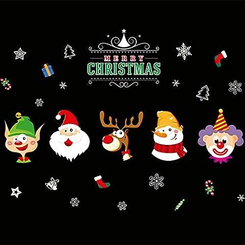Shopping Mall Shop Windows Windows Glas Tapeten Aufkleber Weihnachten Dekorationen Fenster Grids Santa (Festliche Zitate Für Weihnachten)