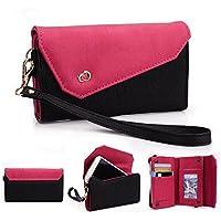 Kroo Link Serie universale Borsa a tracolla con portafoglio donna, compatibile con Apple iPhone 5C (Pelle Epi Portafoglio)