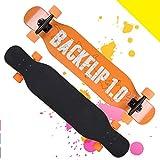 FUNANDTRICK Skateboard Freeride Acrobazia Longboard Trucco Calcio Monopattino Galassia 4 ruote Per i ragazzi Ragazze Bambini Oltre 5 anni Adulti-A 107x23cm(42x9inch)