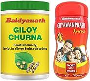 Baidyanath Guduchi (Giloy) Churna - 100 gm (pack of 2) & Baidyanath Chyawanprash Special - All Round Immun