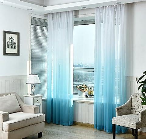 Nibesser Vorhänge Transparent Schlaufenschal Gardine Dekoschal Voile mit Ösen für Schlafzimmer Wohnzimmer 2er set (140Bx245H cm, Weiß und