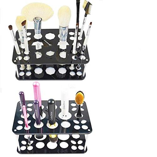 DZW 26 Mix Size Maquillage Brush Holder Organizer -Collapsible- Brosse à CosméTiques SéCheuse à CréMaillèRe, Nettoyant, Brossage, Tenue, Maquillage, Beauté, Outils, Support D'Affichage , airer (display)
