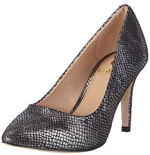 La Strada Graue Schlangen-Look Pumps, Decolleté chiuse donna, Grigio (Grau (1544 - croco/snake pewter)), 37