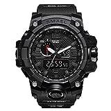 Herren Digitale Uhren, Sport Laufen wasserdichte militärische Armbanduhr Fashion Men LCD Digital Stoppuhr Herren-Black-WCH1545-BK