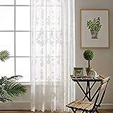Transparente Einfarbige Gardine Voile Vorhang Mit Ösen Transparent Gardine Gardine Vorhang Für Schlafzimmer,300 * 270/2