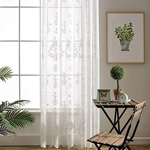 2 tende con occhielli tenda a occhiello semitrasparente per porte di soggiorno camera da letto casa tenda richiudibile,150 * 270/2