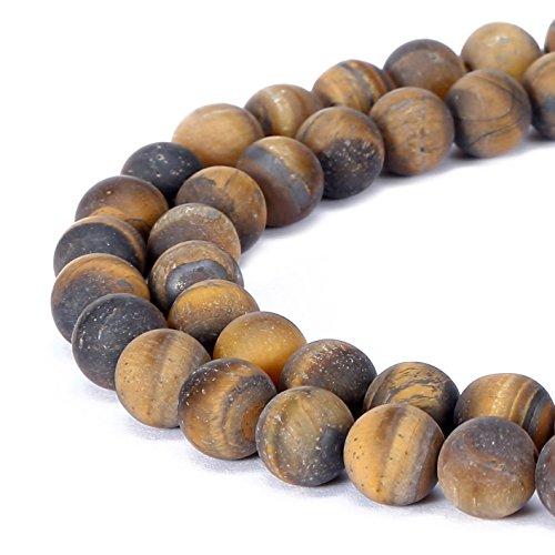 Wunderschöner natürlicher Drusen-Achatstein in Fuchsia, matte, runde, einzelne Perle zur Schmuckherstellung, Tigerauge, 8 mm