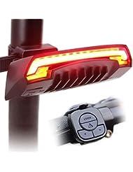 Kiao Smart Bike Tail rechargeable USB Light X5 avec sans fil Clignotants à distance des faisceaux laser pour Moutain Bike, vélo BMX, vélo de route et vélo hybride 80 Lumens