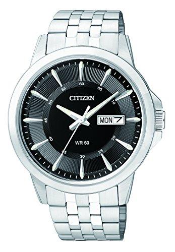 Citizen orologio da uomo analogico con movimento al quarzo in acciaio inox bf2011-51ee