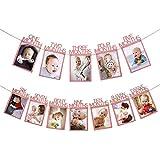 Sri SS Retail Birthday Baby Photo Banner for Newborn to 12 Months, Monthly Milestone Photograph Bunting Garland, First Birthd