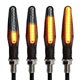 Kinstcks 4PCS Motorrad Indikatoren fließende Blinker Motorrad Anzeigen 12V 12 LEDs Lampen für Motorrad Motorrad Roller Quad Cruiser Off Road