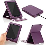 MoKo Kindle Paperwhite Case, Premium Vertical Flip Cover with Auto Wake / Sleep for Amazon All-New Kindle Paperwhite (Fits All 2012, 2013, 2015 and 2016 Versions), Purple