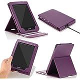 MoKo Kindle Paperwhite Funda - Premium Vertical Flip Smart Cover Case con Auto-Sueño / Estela para Amazon All-New Kindle Paperwhite (Compatible con 2012, 2013, 2015 y 2016), Morado