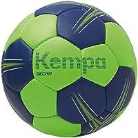Kempa Gecko Balón de Juego y Entrenamiento, Unisex, Verde (Flash) / (Azul Deep), 2