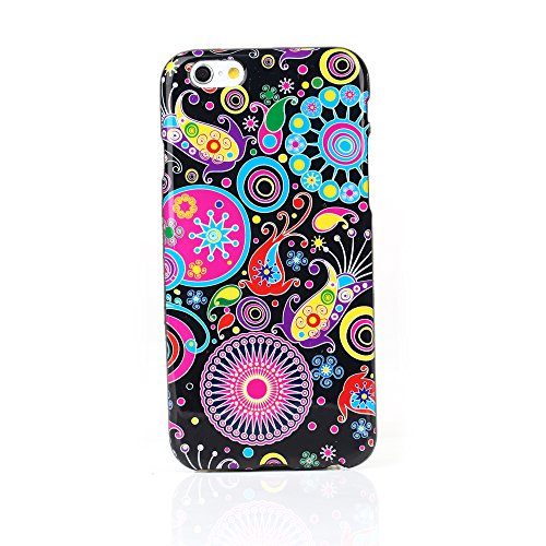 "Kit Me Out UK TPU Gel Case for Apple iPhone 6 / 6S 4.7"" Inch - Multicoloured / White Comic Captions Mehrfarbig / Schwarz Retro 60's"